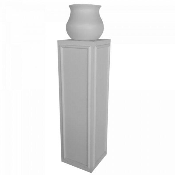 ep103 pot avec support couleur ensemble blanc