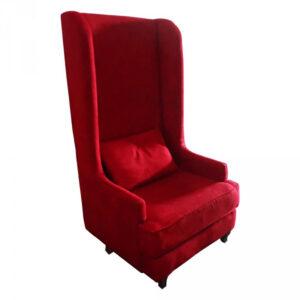 ft122rg fauteuil haut dossier tissu rouge