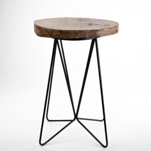 ta092bs table haute mange debout tronc darbre