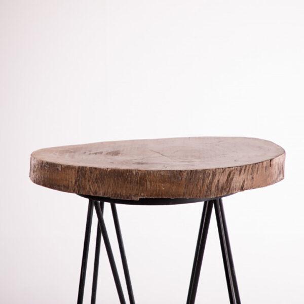ta092bs table haute mange debout tronc darbre assise